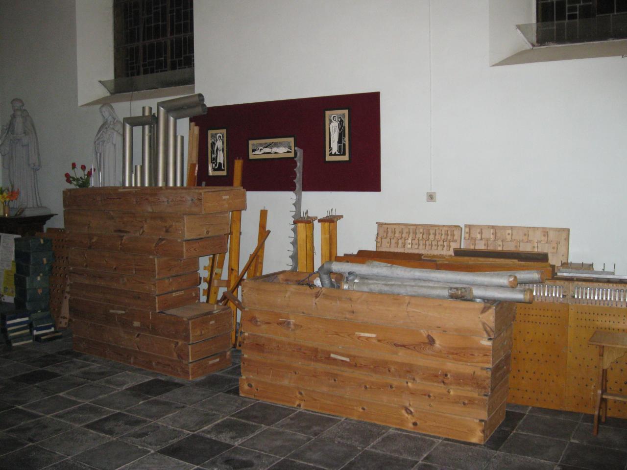 Travaux chauffage - nouvelle tribune et montage nouvel orgue